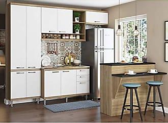 Multimóveis Kit Cozinha 5 Peças Com Bancada Argila E Branco Sicília Multimóveis