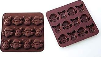 Tema Pascua SCG05 Molde de Silicona para Chocolate Color marr/ón 14 cavidades