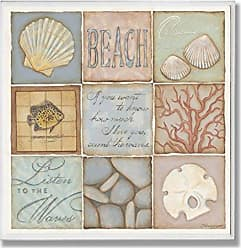 The Stupell Home Décor Collection Stupell Home Décor Count The Waves Square Wall Plaque, 12 x 0.5 x 12, Proudly Made in USA