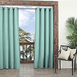 Ellery Homestyles PARASOL Key Largo Indoor/Outdoor Curtain Panel, 52 x 108, Aqua