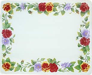 Corelle 91512SMBH Corelle Summer Blush 15 x 12 Counter Saver Tempered Glass Cutting Board