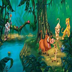 RoomMates Disney Lion King Chair Rail Mural - JL1253M