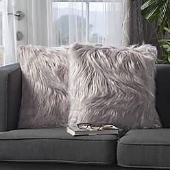 Christopher Knight Home 301701 Carice Furry Deco Throw Pillow (Set of 2), Lavender