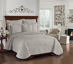 Ellery Homestyles Historic Charleston Collection King Charles Matelasse Coverlet, Full/Queen, Grey