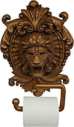 Hickory Manor House Lion Medallion Plaque Toilet Paper Holder, Antique Gold