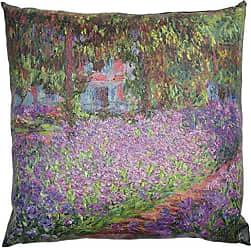 Oriental Furniture ORIENTAL Furniture Monet Irises Pillow