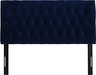 Jennifer Taylor Home Maya Collection Queen Size Size Modern Adjustable Diamond Tufted Headboard, Queen Size, Navy