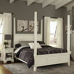 Home Styles Naples White Queen Poster Bed & Night Stand by Home Styles