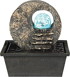 Ore International ORE International K328 Indoor Table Fountain with LED Light, 8-1/2-Inch