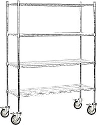 Salsbury Industries Mobile Wire Shelving Unit, 60-Inch Wide by 80-Inch High by 18-Inch Deep, Chrome