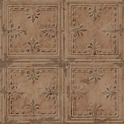 RoomMates Tin Tile Peel and Stick Wallpaper Copper - RMK11231WP