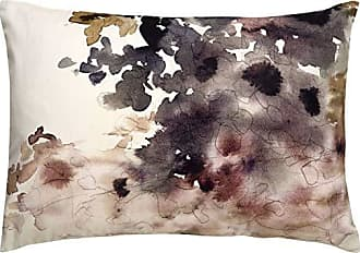 Jaipur Watercolor Ivory/Taupe Cotton and Polyester Down Filled Pillow (14x20)