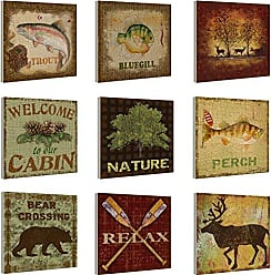 The Stupell Home Décor Collection The Stupell Home Decor Collection Nature and Outdoors Plaque, Set of 9
