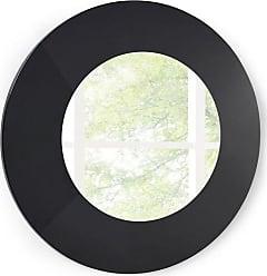 Whiteline Delaney Round Mirror - MR1408-GRY