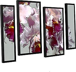 ArtWall Linda Parkers Abstract Orchid, 4Piece Floater Framed canvas Staggered Set 24x36