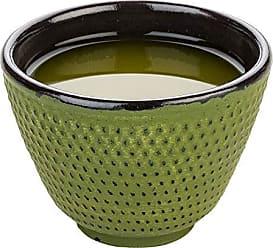 Restaurantware RWM0077G Tetsubin 2 oz Green Cast Iron Tea Cup Hobnail 1/2 x 1 3/4 2 Count Box, 2 ounces
