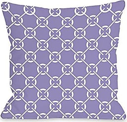 One Bella Casa Ceciles Circles Outdoor Throw Pillow by OBC, 18x 18, Violet/Tulip