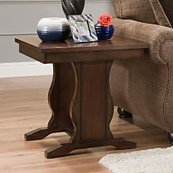 United Furniture Square End Table with Church Pew Base - 7534-47
