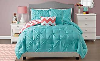 VCNY Home VCNY 5 Piece Sophia Reversible Comforter Set, Full/Queen, Turquoise