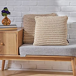 Christopher Knight Home 305870 Tate Knitted Cotton Pillows (Set of 2), Beige