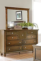 Progressive Furniture P111-23 Cotswold Grove Drawer Dresser, 18 x 59 x 39, Brown