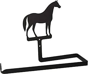 Village Wrought Iron 12 Inch Horse Paper Towel Holder Wall Mount