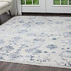 Home Dynamix Nicole Miller Kenmare Marian Area Rug 92x125, Distressed Gray/Blue