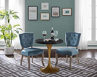 ModWay Drive 28 Round Pedestal Wood and Iron Dining Table