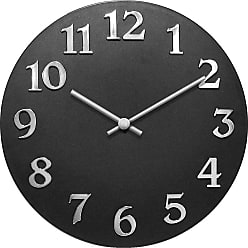 Infinity Instruments Vogue Retro 11.75-Inch Wall Clock Black - 13392BK