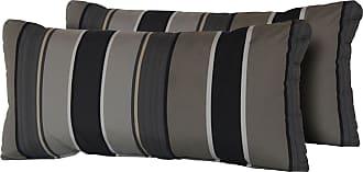 TK Classics Grey Mix Stripe 22 x 11 in. Outdoor Throw Pillow - Set of 2 - PILLOW-GREYMIX-R-2X
