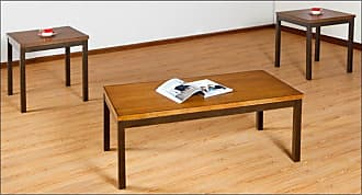 United Furniture 3 Piece Mixed Media Coffee Table Set - Barley - 7308-43