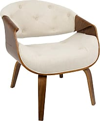 LumiSource Curvo Mid-Century Modern Tufted Dining Chair Teal - CH-CRVTFT WL+TL