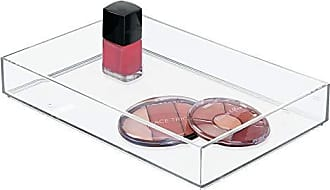 InterDesign Clarity Plastic Drawer Organizer, Storage Container for Cosmetics, Makeup, and Accessories on Vanity, Countertop, Bathroom, or Cabinet, 8 x 12 x 2, Clear