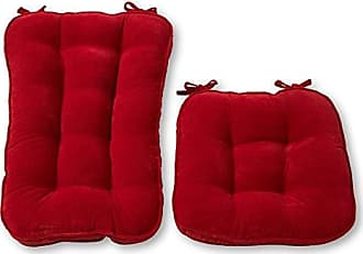 Greendale Home Fashions Jumbo Rocking Chair Cushion Set Hyatt fabric, Scarlet