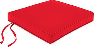 Jordan Manufacturing Company Deluxe Sunbrella Square Cushion w/Ties 19.75 x 17.75, in Jockey Red