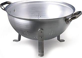 Argento Semisferico Pentole Agnelli Colapasta a 3 Piedi con 2 Manici in Acciaio Inossidabile 24 cm in Alluminio
