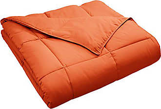 Home City Inc. Superior Classic All-Season Down Alternative Comforter with with Baffle Box Construction, Full/Queen, Dusty Orange