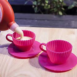Prana Conj 2 Xícaras de Silicone Culinário para Cupcake PRANA