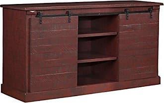 Sandberg Furniture Martin Svensson Home 90935 Camden Bridge 60 TV Stand, True Barn Door Red