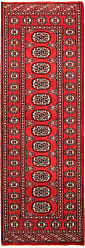 Nain Trading Pakistan Buchara 2ply Rug 61x21 Runner Red/Pink (Pakistan, Hand-Knotted, Wool)