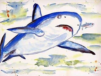 Betsy Drake DM213 Sharks Door Mat, 18 x26