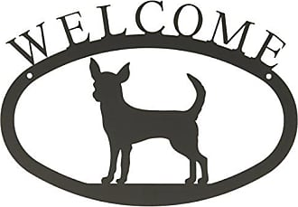 Village Wrought Iron 11 Inch Chihuahua Welcome Sign Small