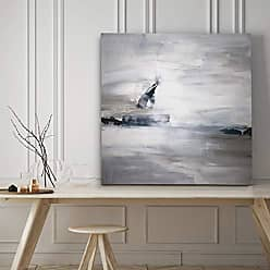 WEXFORD HOME Shifting Tides II Gallery Wrapped Canvas Wall Art, 40x40, Abstract Lapis