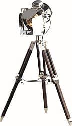 Elegant Lighting Ansel Tripod Floor Lamp D:6.5 H:31.5 Lt:1 Chrome and Brown Finish