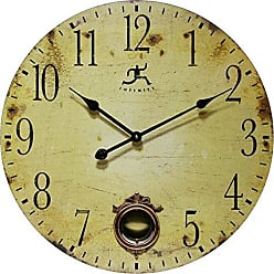 Infinity Instruments 24 Inch Large Rustic Pendulum Wall Clock, Cottage Grove