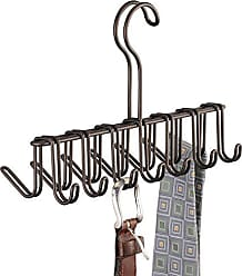 InterDesign InterDesign Classico Metal Tie Hanger, Hanging Closet Organization Storage Holder for Belts, Mens Ties, Womens Shawls, Pashminas, Scarves, Clothing, Accessories, Horizontal Rack, Bronze