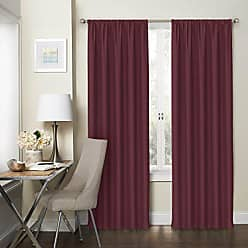 Ellery Homestyles Eclipse 15947074X084CRI Wallace 74-Inch by 84-Inch Window Panel Pair, Crimson