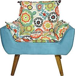 Kaza do Sofá Poltrona Decorativa Opala Mandala Azul - Kasa Sofá