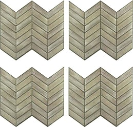 RoomMates Chevron Distressed Wood StickTILES Wall Decals - Set of 4 - TIL3461FLT