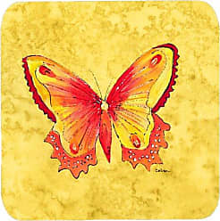 Set of 4 Multicolor Carolines Treasures RDR2001FC Flower-Sunflower Foam Coasters 3.5 H x 3.5 W